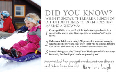 Have a Snow Day? Here Are Some Fun Things to Do!