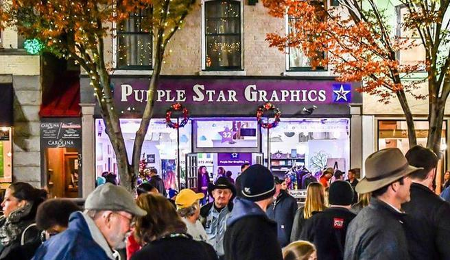 Shop Local, Support Small Businesses: Purple Star Graphics in Downtown Concord, NC