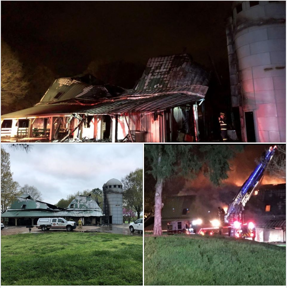 Frank Liske Park barn fire photos from Independent Tribune