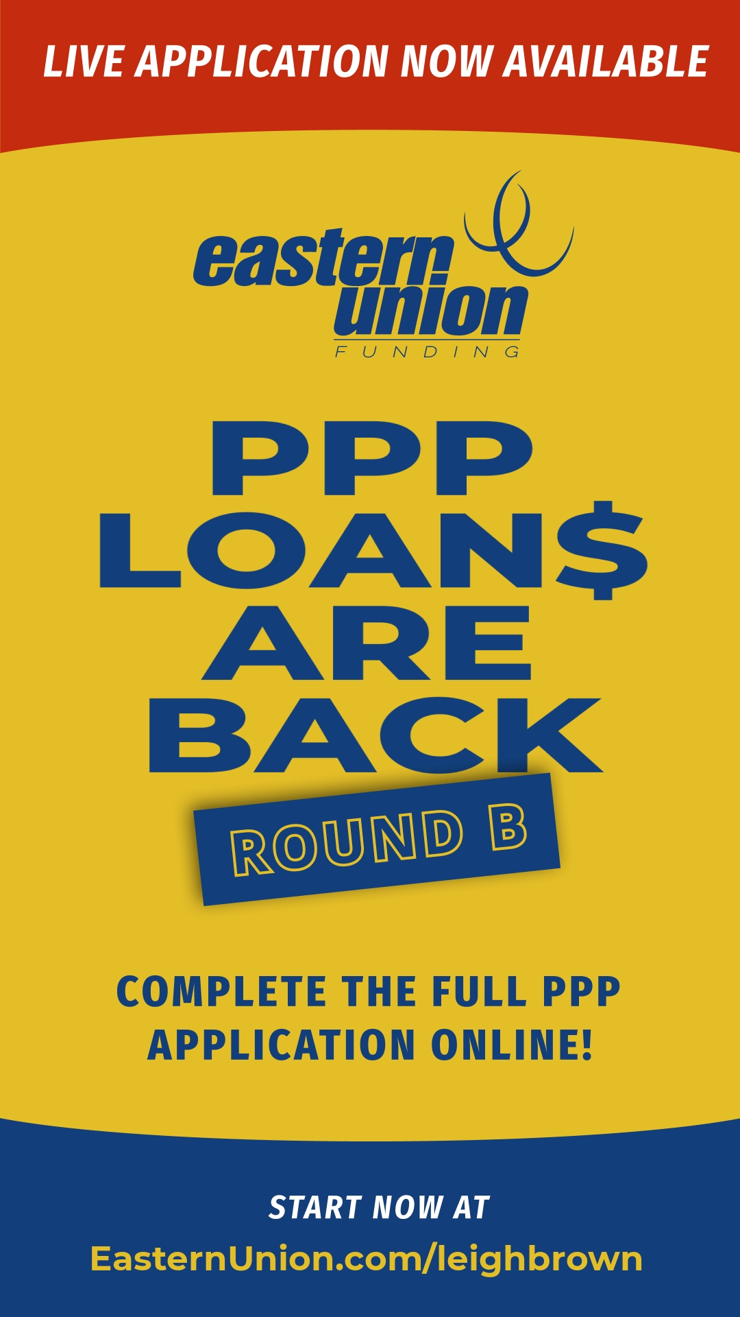 PPP Loan Round 2 with Eastern Union