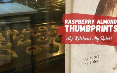 Raspberry Almond Thumbprints  |  My Kitchen! My Rules!