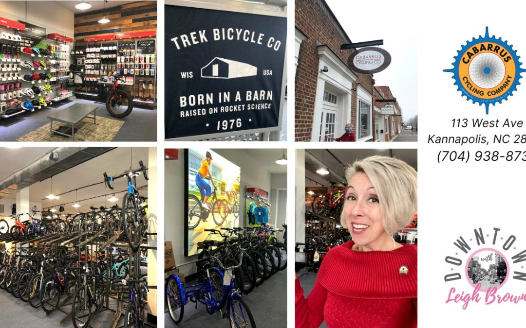 Downtown With Leigh Brown – Take a RIDE With Cabarrus Cycling Company!