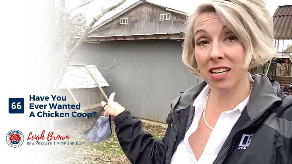 Real Estate Tip of the Day #66- Have You Ever Wanted A Chicken Coop?